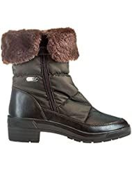 Pajar Womens Ventura Weatherproof Faux Fur Boot
