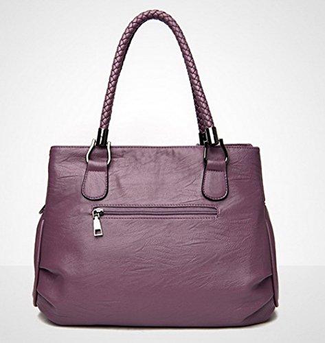 ROFBL180995 Sacs Femme Cuir Odomolor Tout Sacs Zippers Bandoulière à Violet Robe fourre PU E0PqnwqFx
