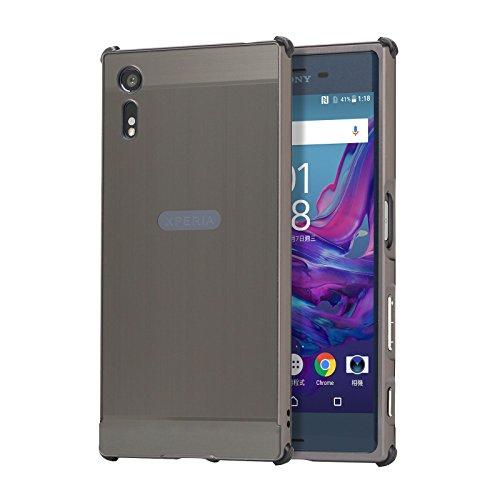 Aluminum Metal Bumper Case Shockproof Cover for Sony Xperia XZ Black - 3
