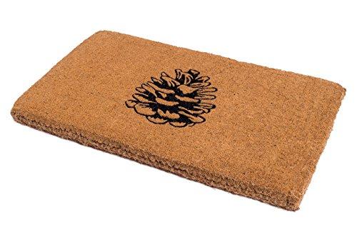 Handwoven, Extra Thick Doormat | Entryway Door mat For Patio, Front Door | Decorative All-Season | Nature Lover Pine Cone | 18'' x 30'' x 1.60'' by Fab Habitat