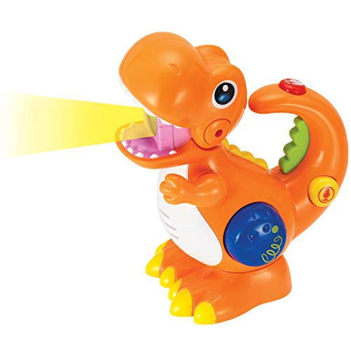 Tikki The Voice Changer Dino. Recording and Playback Musical Toy with Microphone and Flashlight for Kids and Toddlers. Age 2 to 9 Year Old.