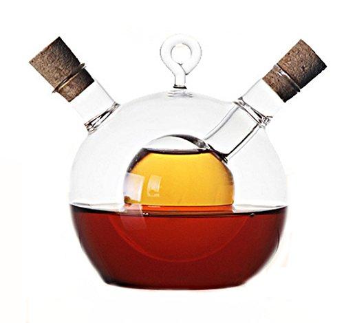 - Glass Caster Oil and Vinegar Bottles of Soy Sauce Vinegar Bottle,Oil Vinegar Cruet in One