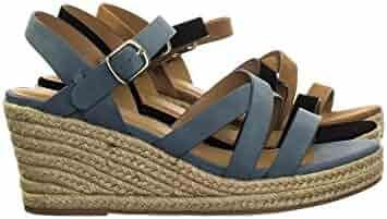 5713babd14e Aquapillar Espadrille Rope Jute Wrap Platform Wedge Open Toe Dress Sandal