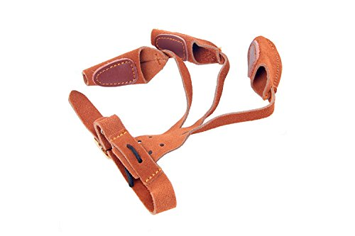 Lux Archery Protector 3 Finger Tab Glove With Leather Wrist Strap Shooting Protect Guard for Hunting Compound Recurve Bows