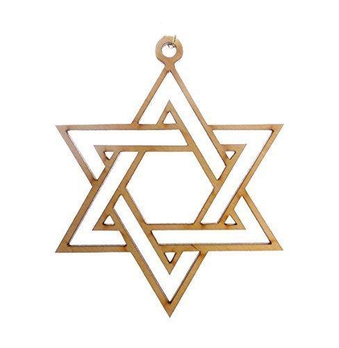 Jewish Star Of David Engraving - Star of David Ornament - Hanukkah Ornament - Hanukkah Gift - Hanukkah Decor - Hanukkah Decoration - Chanukah Gift