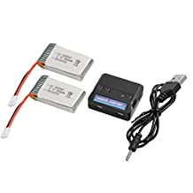 XCSOURCE 2pcs 3.7V 800mAh 25C Lipo Battery + 4 in 1 Battery Charger For Syma X5 X5C X5SC X5SW Quadcopter BC588