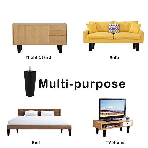 GLTECK Tapered Plastic Sofa Couch and Chair Legs M8 Thread Sofa Legs Metric