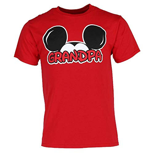 Disney Adult Plus Size Mens T-Shirt Grandpa Family Tee Red (3XL)