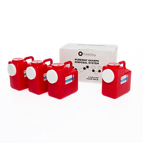 PureWay 2 Gallon 4-Pack PureWay Sharps Disposal System