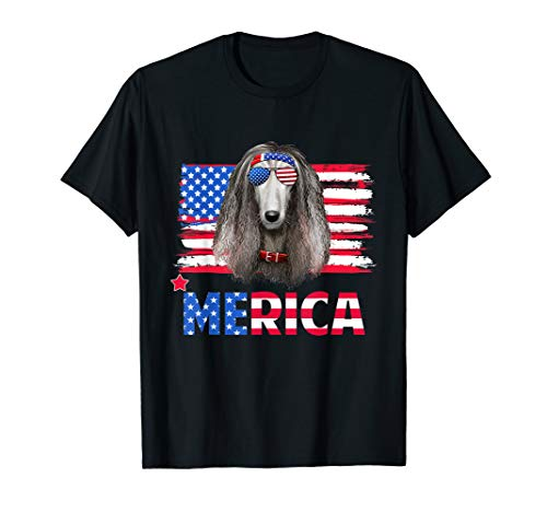 Funny Hanging With Afghan Hound Mom T-Shirt Merica 4Th July