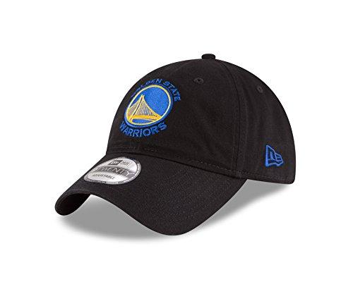 NBA Golden State Warriors Core Classic 9Twenty Adjustable Cap, Black, One Size from New Era