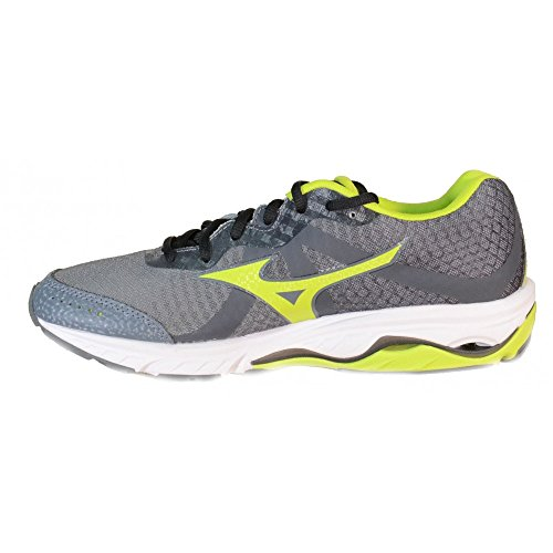 Mizuno Wave Elevation Men's Running Shoes Gray Leather Material J1GR141707 Grey 9rG08JOJY