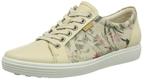 Ecco Soft 7, Sneakers Basses Femme Mehrfarbig (50471MULTICOLOR/LIMESTONE/POWDER)