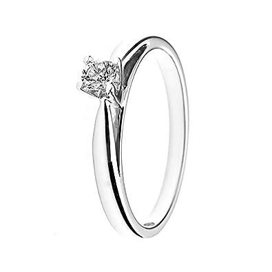 d60efcfb286 And You -   You - Bague solitaire de mariage Femme - 18-k-(750) Or blanc  Diamant Ronde Taille  Amazon.fr  Bijoux