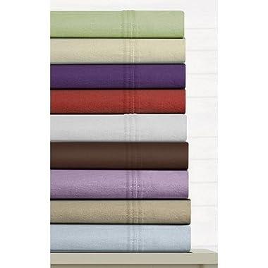 Tribeca Living 170-gram Deep Pocket Flannel Sheet Set Queen, Sky Blue
