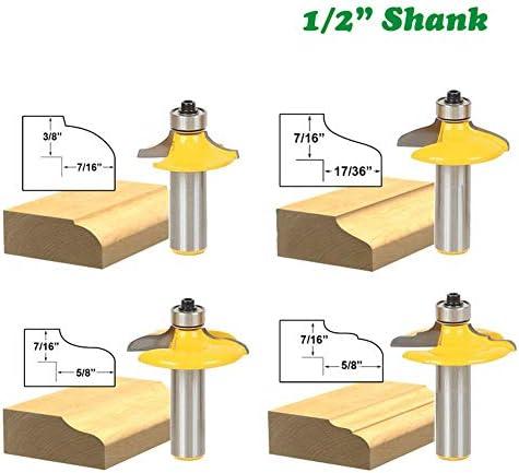 1個12.7ミリメートル1/2シャンク引き出しビーズエッジングルータービットセットC3超硬木工MC03060とフェイスミルラウンド以上,NO.3