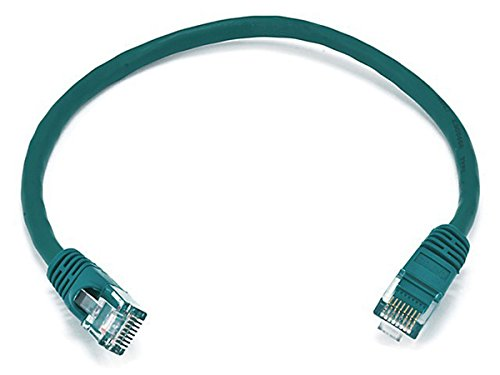 Monoprice Cat6 Ethernet Patch Cable - Network Internet Cord - RJ45, Stranded, 550Mhz, UTP, Pure Bare Copper Wire, 24AWG, 1ft, ()