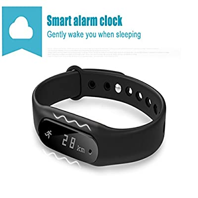Lepfun Moxie Bluetooth 4.0 Smart Wristband and Activity Tracker with Waterproof Heart Rate Fitness Monitor Compatible with Android iPhone for Boys, Girls,Kids,Men and Women