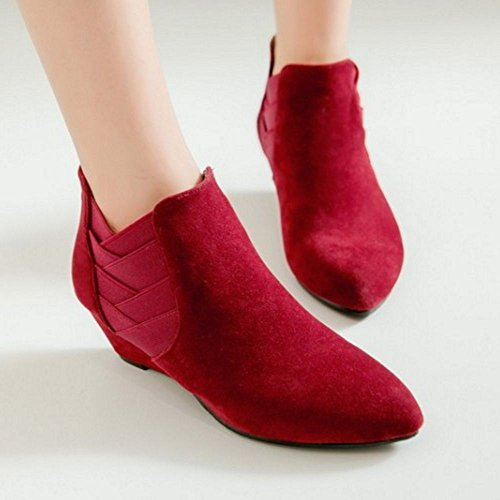 COOLCEPT Botines para Mujer Red