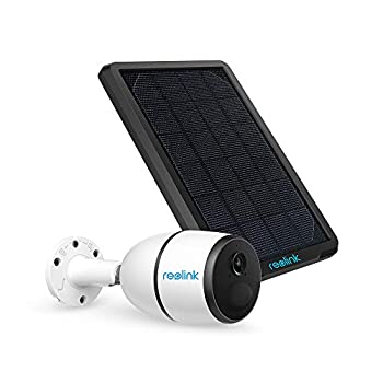 Image of 3G/4G LTE Outdoor Solar-Powered Security Camera Wirefree Battery Camera System, 1080p HD Night Vision, 2-Way Audio, PIR Motion Sensor, SD Socket and Cloud Reolink Go+Solar Panel Home Improvements
