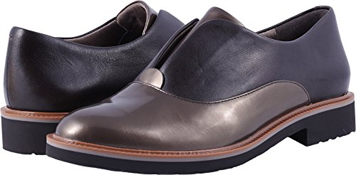 Rockport Women's Total Motion Abelle Slipon Oxford, Brown/Metallic, 6 W US by Rockport