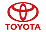 Toyota Auto Logo with Words Traditional Flag