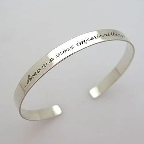 Custom Personalized .925 Solid Sterling Silver Engraved 1//2 Cuff Bracelet