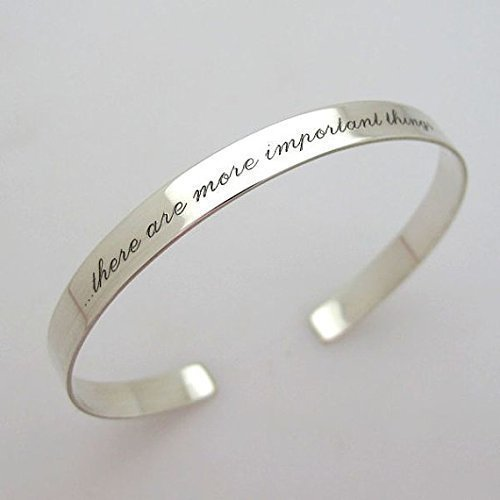 0aa2a0d8e5cb2 Amazon.com: Personalized Sterling Silver Cuff Bracelet - Skinny ...