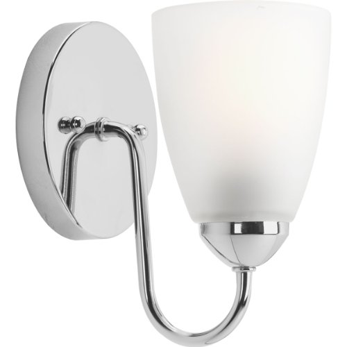 Progress Lighting P2706-15EBWB Gather 1-Lt. CFL Bath and Vanity Fixture with Etched glass shade