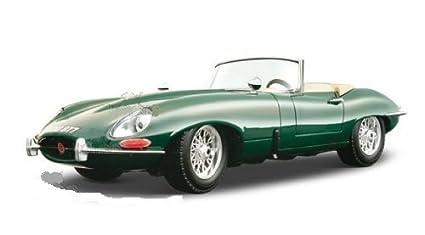 B Burago Gold Jaguar U0026quot;Eu0026quot; Cabriolet Convertible (1961, 1:18