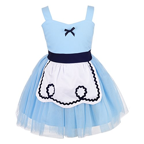 Dressy Daisy Princes Alice Dress for Toddler Girls Alice Costume Summer Dress Up Size 3T