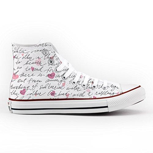 lettera Star Alta amore stampa artigianali Converse scarpe Personalizzate All aq1EW0txAH