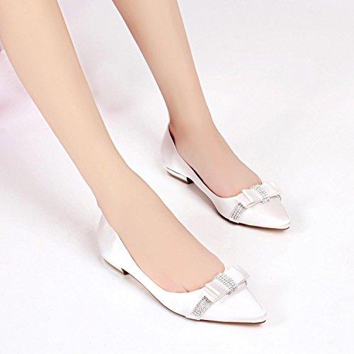 pie 1 Seda de Purple Boda Elobaby 8cm Cerrado de Mujeres del Zapatos Dedo Gatito de Verano Las básico de de Primavera wUzTzq