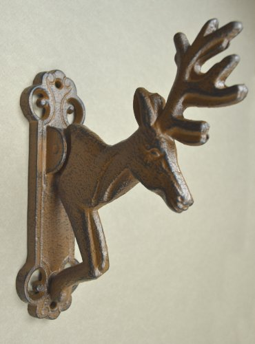 Lulu Decor Cast Iron Deer Door Knocker Brown Perfect