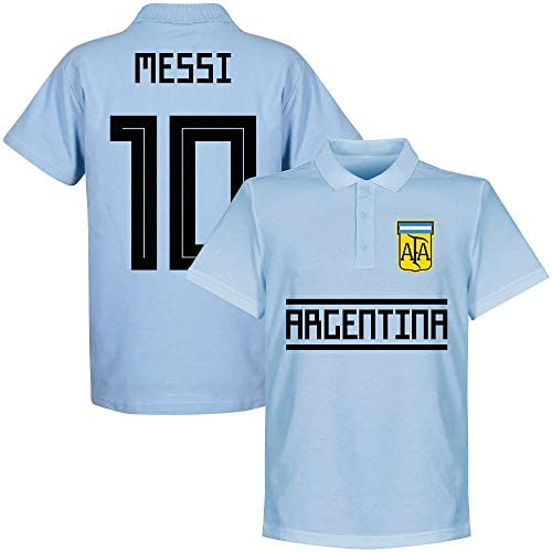 Retake Argentina Team Messi 10 - Polo de Manga Corta, Color Azul ...