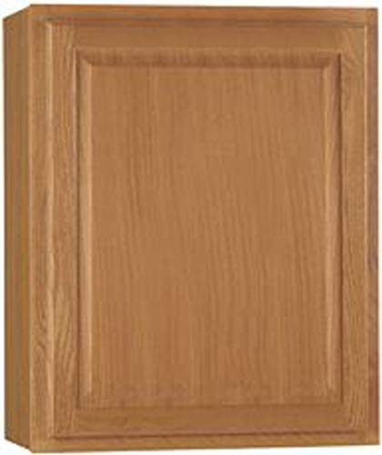CONTINENTAL CABINETS Kitchen CABINETS 2478231 Rsi Home Products Hamilton Kitchen Wall Cabinet, Fully Assembled, Raised Panel, Oak, 27X30X12