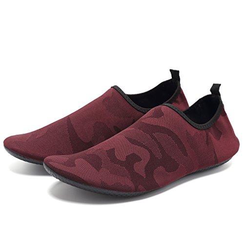 CIOR Lightweight Aqua Socks Quick-Dry Water Shoes Mutifunctional Barefoot For Beach Pool Surf Yoga Exercise W.red Brown aPI8U9N
