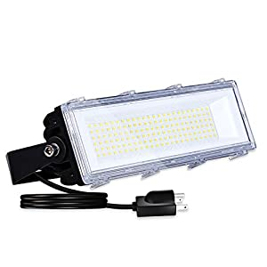 50W LED Flood Light Outdoor, 4800lm 6000K Super Bright(150W Equiv) Yard Security Lights IP66 Waterproof Outdoor Work…