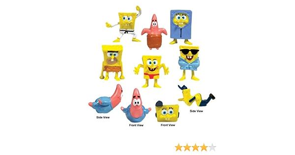 "10 Spongebob squarepants mini figurines Viacom gâteau Toppers 1-2/"""