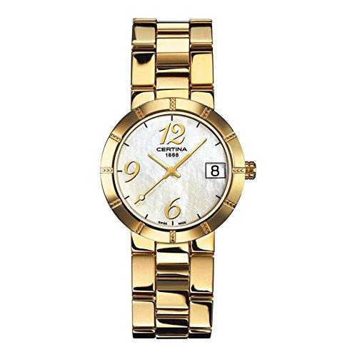 Certina Women's DS Stella Gold-Tone Steel Bracelet & Case Quartz MOP Dial Analog Watch C009.210.33.112.00