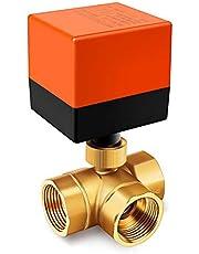 Miafamily Elektrisch ventiel afsluiter omschakeling kogelventiel messing afsluitkraan stroomregeling zoneklep kogelventiel