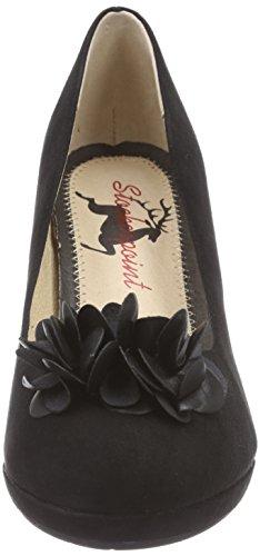 À Stockerpoint 6080 Chaussures Talons Plateau Noir Avec black Femme wEPEH