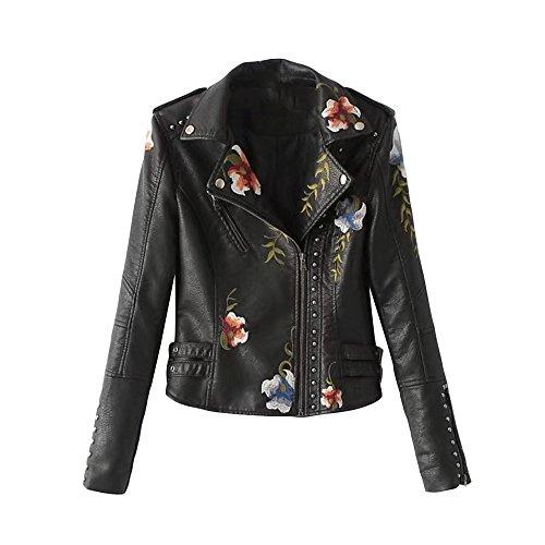 Black Leather Moto Jacket - 8