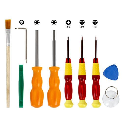 10 Piece Professional Nintendo Screwdriver Repair Tool Set with Triwing, 3.8mm, 4.5mm, Torx. Repair Tool Kit for Nintendo Switch, Joycon, New 3DS, 3DS XL, Nintendo NES, SNES, N64, Gamecube, DS, GBC