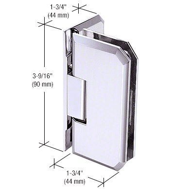 (C.R. LAURENCE M0N044CH CRL Chrome Monaco 044 Series Wall Mount Offset Back Plate Hinge)