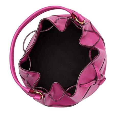 Marc by Marc Jacob Saffiano Drawstring Bucket Bag Pink