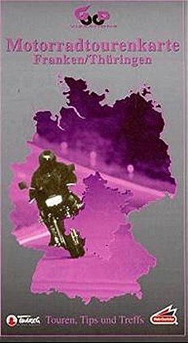 Motorradtourenkarte, Franken, Thüringen