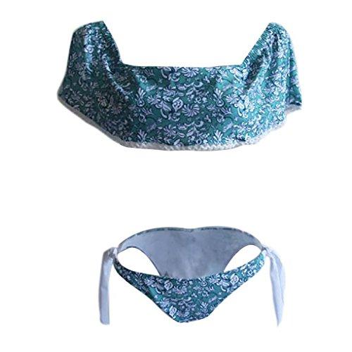 Jimmackey De las mujeres Parte superior del hombro Trajes de baño Baños Bikini Volante fruncido Conjuntos Multicolor