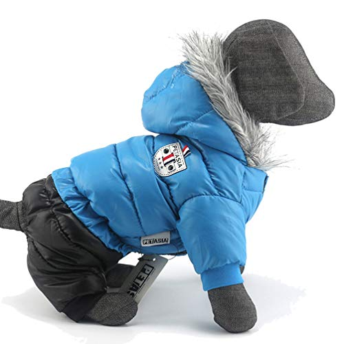 Pet Dog Down Clothes Winter Waterproof Cat Warm Coats Jackets Thick Jumpsuit for Small Large Dogs ()
