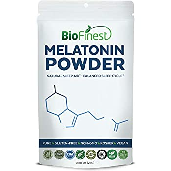 Biofinest Melatonin Powder 1mg/3mg/5mg/10mg - Fast Dissolve Quick Release - Pure Gluten-Free Non-GMO Kosher Vegan - For Kids and Adult - Natural Supplement ...